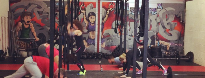 Class doing CrossFit Games Open WOD 13.1