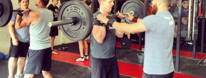 Community Saturday with a spicey barbell partner WOD