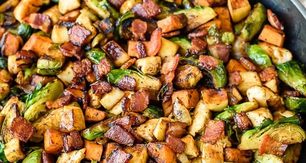 Chicken-Apple-Sweet-Potato-Skillet-with-Bacon-and-Brussels-Sprouts.-An-easy-healthy-one-pan-dinner